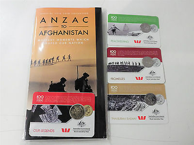 Brand New Official 2016 14 Coins Collection Anzac To Afghanistan