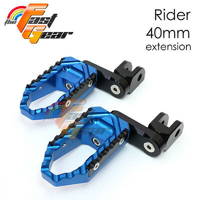 Multi Step Blue 40mm Tour Front Foot Pegs Fit Yamaha YZF R1 98 99