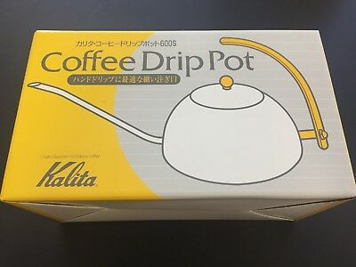 New Kalita Tea Coffee Kettle Drip Pot 600S 600ml 0.6L #52039 Stainless JAPAN