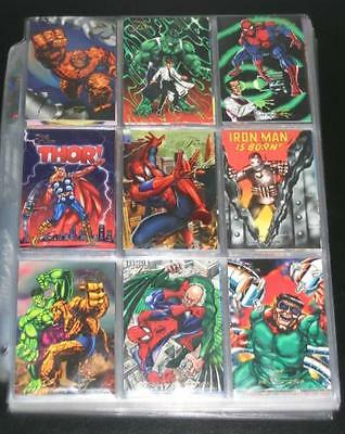 1994 Marvel Flair Inaugural Edition BASE Set of 150 Cards NM-M X-Men, Spider-Man