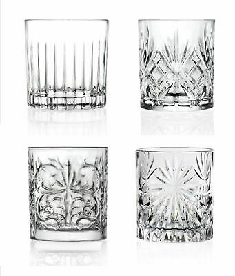 NEW RCR MIXOLOGY CRYSTAL TUMBLERS Glass Glasses Cocktail Whisky Whiskey SET 4