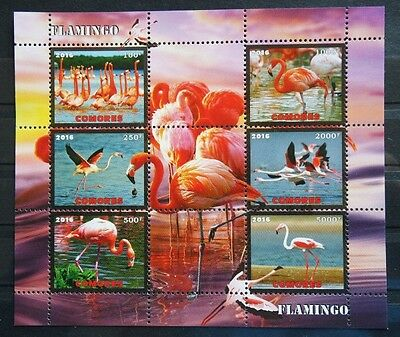Bloc neuf ** MNH - Comores 2016 - Oiseaux Birds Flamants roses Flamingo