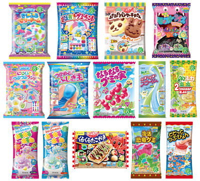 10 KRACIE POPIN COOKIN KITS. DIY Japanese Candy Happy Kitchen Christmas Sweets