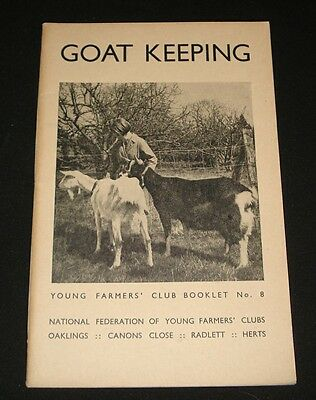 Vintage 1942 Young Farmers Club Booklet # 8 ~  Goat Keeping