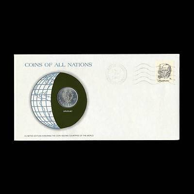 Uruguay 1 Peso 1980 Fdc Unc ─ Coins Of All Nations Uncirculated Stamp Cover