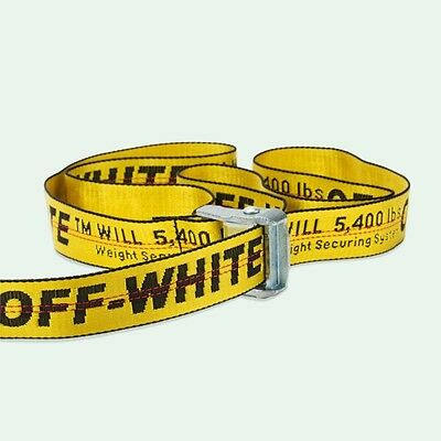 Off White 16F/W C/O Virgil Abloh Yellow Industrial Belt One Size