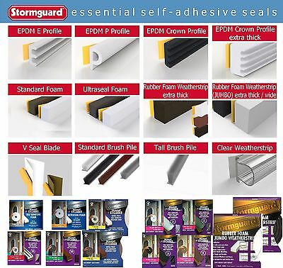 Stormguard Draught Excluder Self Adhesive Seals Door Window Tape Foam