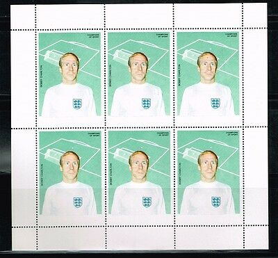 Bobby Charlton.Soccer.Football.Fussball.Proof.MNH**
