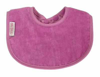 Silly Billyz Organic Baby's First Bib - Plum Free Shipping!