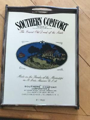 Southern Comfort Vintage Printed Tray Wall Hanging Mirror