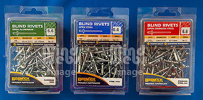 Truss Head Blind Rivets (POP) 3 Packs of 100 (300pcs)