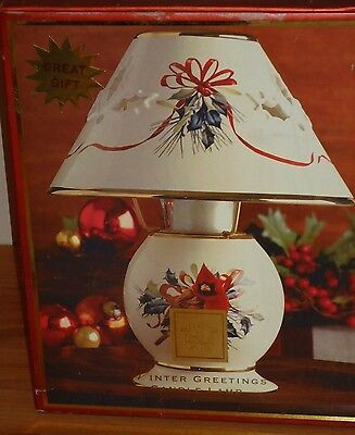 Lenox Christmas WINTER GREETINGS CANDLE LAMP w/Box NEW