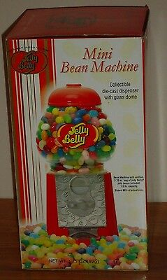 Jelly Belly MINI BEAN MACHINE die cast dispenser w/glass dome New in Box