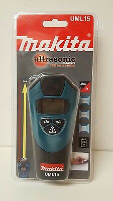 Makita UML15 Ultrasonic Distance Meter with Laser Pointer,Measuring Tools (bd)