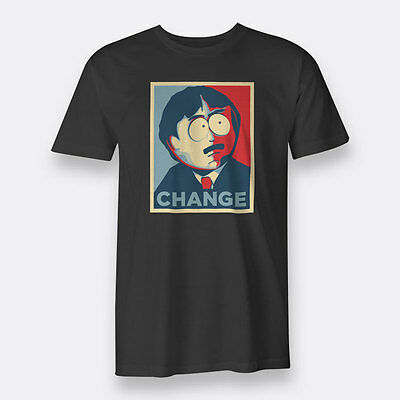 South Park Randy Marsh Change Black T-shirt Men's Tee Size S to XXXL