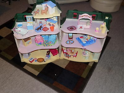 Fisher Price Loving Family Holiday Christmas Doll House loaded w/ accessories