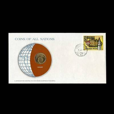 Hungary 2 Forint 1978 Fdc Unc ─ Coins Of All Nations Uncirculated Stamp Cover