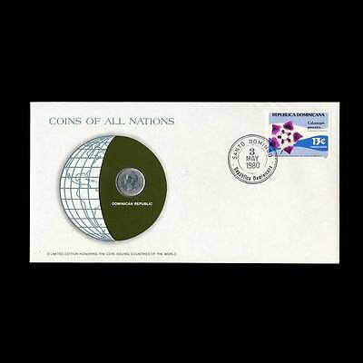 Dominican Republic 10 Centavos 1975 Coins Of All Nations Fdc Unc Stamp Cover