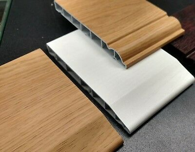"5m Roomline Skirting Chamfered or Ogee Upvc Plastic Skirting 4"" 100mm 4 Inch"