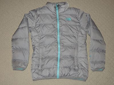 Girls The North Face 550 Puffer Goose Down Jacket Coat Youth Large 14-16 Gray