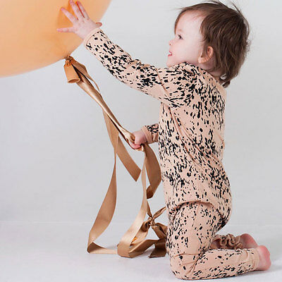 NEW Sea leopard nude long sleeve jumpsuit Girl's by Mad About Mini