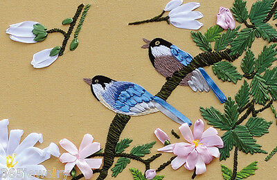 Ribbon Embroidery Kit Spring Melody Swallow On Tree Needlework Craft Kit RE6002