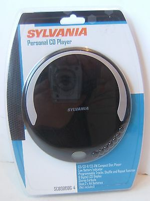 Sylvania Personal Portable Black CD Player Brand New Sealed SCD300DG-4