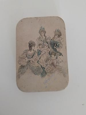 Antique French Dragee Box - Baby Decor - Boîte De Dragees Ancienne