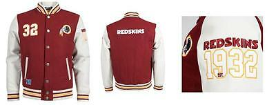 Nfl American Football Washington Redskins Gridiron Letterman Jacket Burgundy
