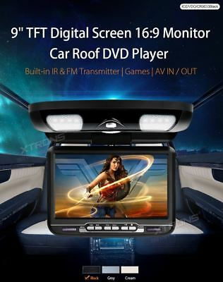 "XTRONS CR9033Black MONITOR DA TETTO CAR ROOF MOUNTED 9"" DVD PLAYER NERO BLACK"