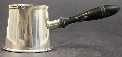 Antique Friedman Silver Co Plated Wooden Handled Pouring Pipkin