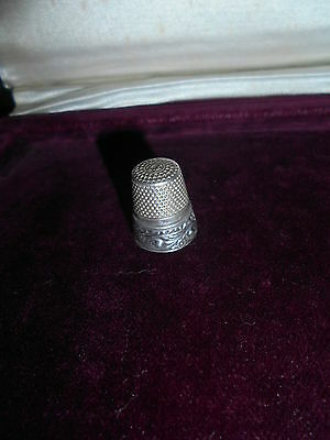 thimble antique sterling silver marked - Portugal