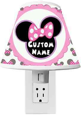 Minnie Mouse Clubhouse Night light Room Decor - CUSTOM NAME