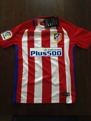 Atletico Madrid 2016/17 Home Top With Griezmann Print, Size 8-10 Years, New