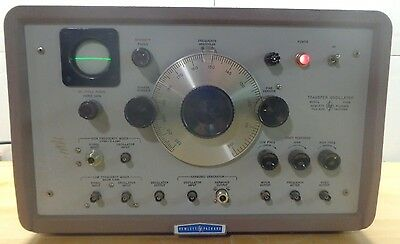 HP Hewlett-Packard 540B Transfer Oscillator Red VINTAGE Ham Radio *POWERS ON*