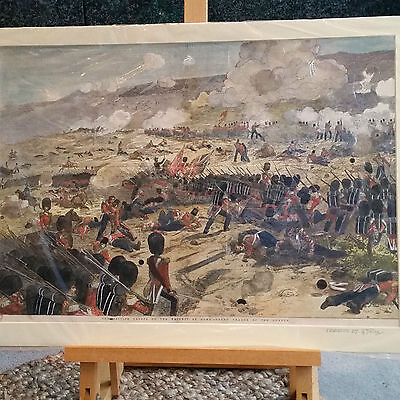 Antique 'The British Troops on the heights of Alma' - 1800's- original Print
