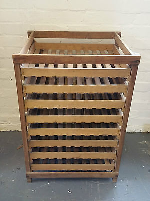 French Antique Fruit and Veg Stacking Storage Shelving Drawers