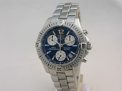 Breitling Colt Quartz Chronograph, Bracelet Watch, Ref, A53350, With Papers