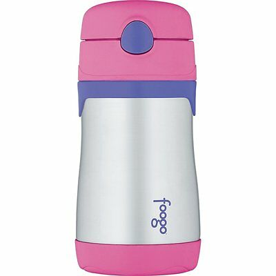 Thermos FOOGO Vacuum Insulated Stainless Steel 10-Ounce Straw Bottle Pink/Purple