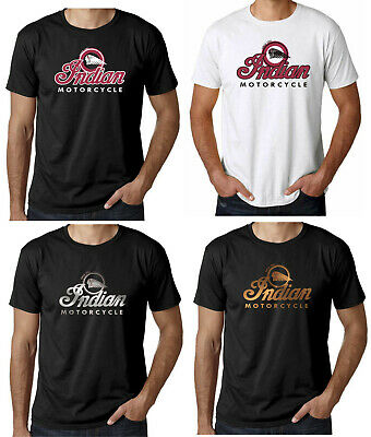 Mens T-Shirt Indian Motorcycle Bike Biker Motorbike Racer classic custom S -XXL