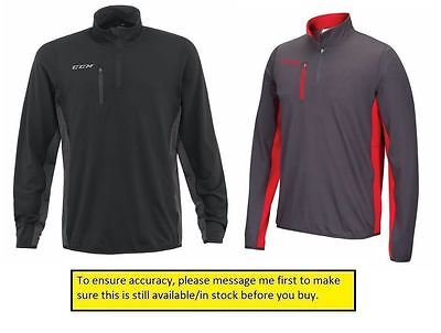 CCM T5570 Team 1/4 Zip Tech Top SENIOR - New Any Size/Color