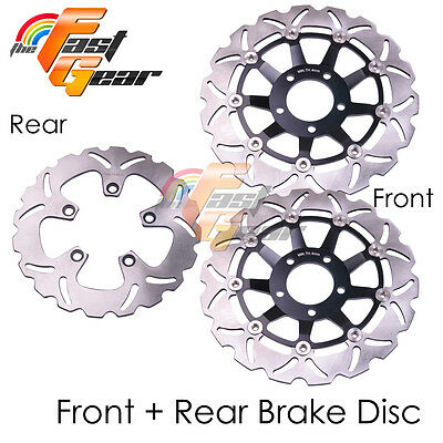 Front Rear SS Brake Disc Rotor Set For Suzuki SV 650 S Fairing 99 00 01 02