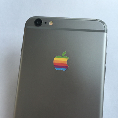 NEW Apple Retro Logo Decal Sticker for iPhone 5/5S/6/6S/7/7 Plus | U.S. Seller