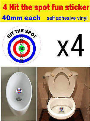 Hit the spot stickers bathroom urinal toilet potty training decal adhesive Vinyl