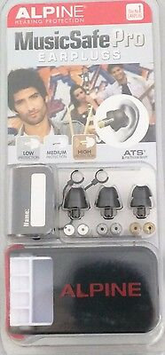 ALPINE MusicSafe Pro Earplugs Ear Plugs for Musicians Music Safe BLACK or WHITE
