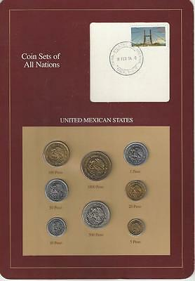 Coin Sets of All Nations - Mexico, 8 coin, Brown card