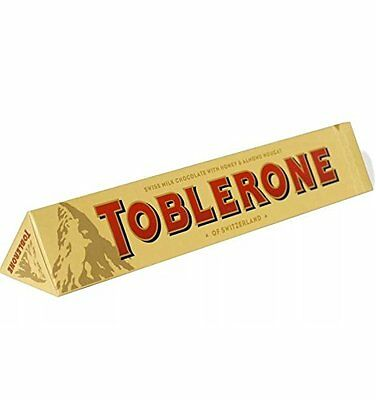 Toblerone 150g Swiss Milk Chocolate Bar Honey Almond Nougat