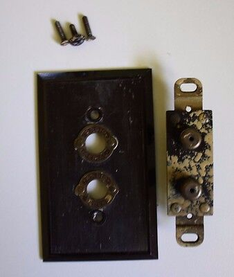 Antique Yaxley Radio Outlet - Model 136 -  Push button switch style