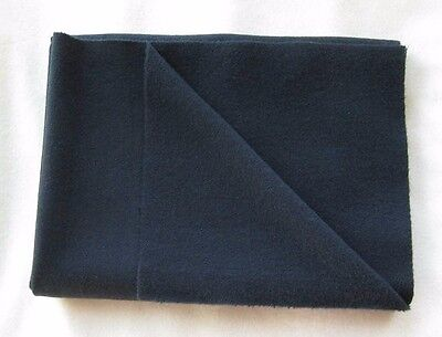 """BLACK MILL DYED Wool for Rug Hooking, Applique, 15-16"""" x 12"""" Felted Wool Fabric"""