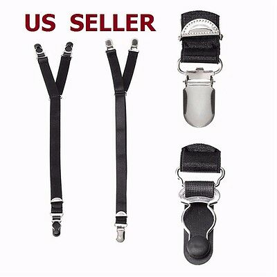 1 Pair Luxury Military Y Style Shirt Holders Uniform Shirt Stays Keepers Garters